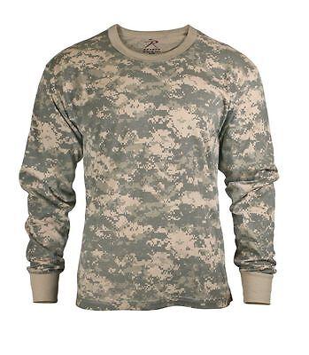 Mens Digital Camouflage T-Shirt - Long Sleeve ACU Digital Camo - Rothco S TO 4X Acu Digital Camouflage T-shirt