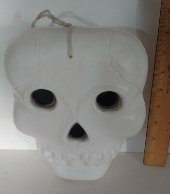 Halloween Plastic Blow Mold Skeleton Head Made in the USA HEAD ONLY