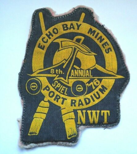 RARE Curling Patch - Echo Bay Mines 8th Annual Spiel