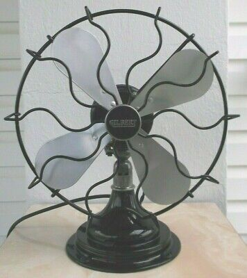 """ANTIQUE/VINTAGE/DECO 30's 12"""" OSCILLATING ELECTRIC FAN-PROFESSIONALLY RESTORED"""