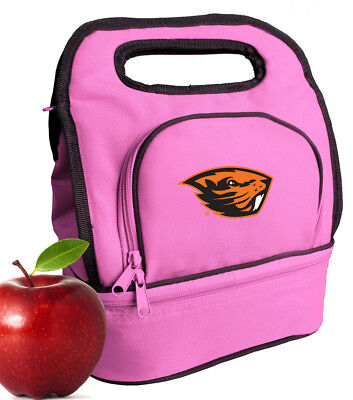 - Oregon State Lunch Bag Lunchbox Girls Ladies OSU Beavers Cooler 2 COMPARTMENTS!