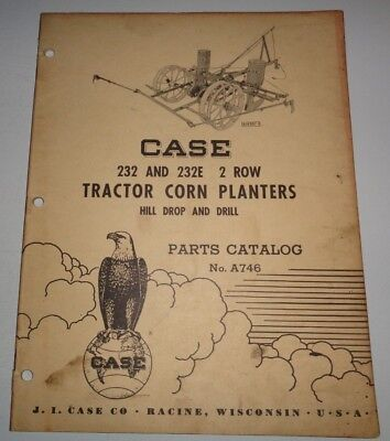 Case 232 232e 2-row Tractor Drawn Corn Planter Parts Catalog Manual Original
