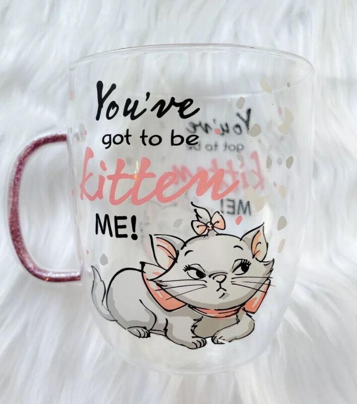 [Brand New] Disney Classic Aristocats Marie Pink Glass Mug - Limited Edition