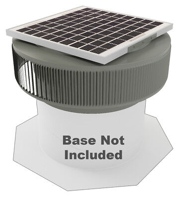 Aura Vent Solar Fan Retrofit 14 Inch Exhaust Roof15w 17v Weatherwood Gray