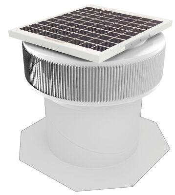 Aura Vent Solar Fan Retrofit 12 Inch Exhaust Roof Ventilator 10w 17v White