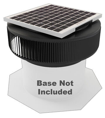 Aura Vent Solar Fan Retrofit 14 In Exhaust Roof Ventilator 15w 17v Black
