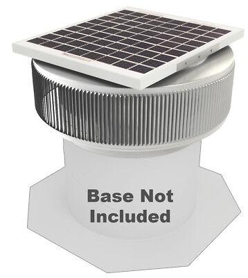 Aura Vent Solar Fan Retrofit 12 Inch Exhaust Roof Attic Ventilator 10w 17v