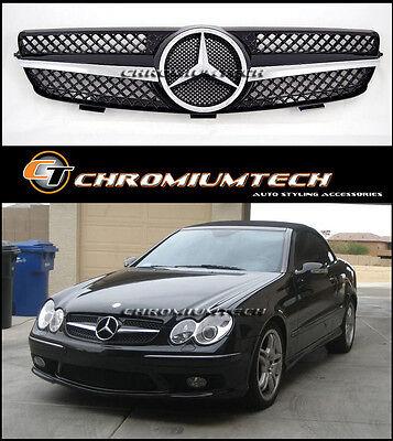 03-09 Mercedes W209 CLK Schwarz / Chrom Grill CLK270 CLK320 CLK350 CLK55 CLK65
