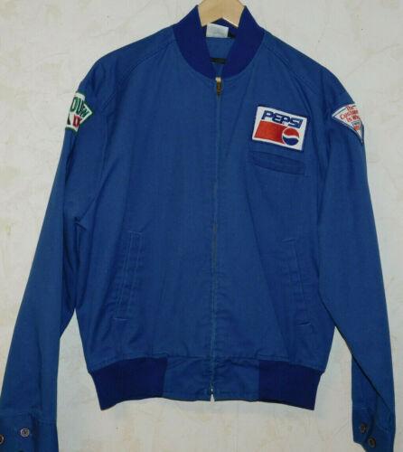 Vintage Pepsi Cola  Jacket Pepsi/Mt Dew Patches Made USA  Size Large