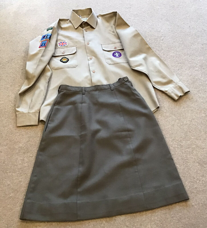 Vintage Venture Scout Uniform with Queen's Scout Badge