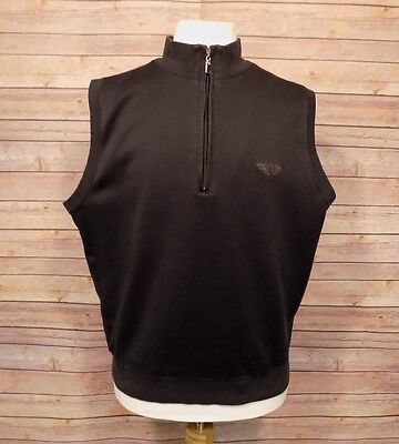 39b69334a0119 Fairway   Greene Pureformance Mens Golf Vest Sweatshirt 1 3 Zip Black Medium