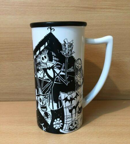 Disney Jack Skellington Zero Sally Nightmare Before Christmas Tall Mug Cup Rare