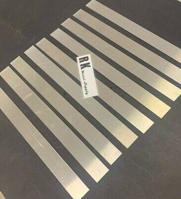 Sheet Metal Strips Aluminum 9 Pack 1 Wide X 12 Long X .050 Mill Finish