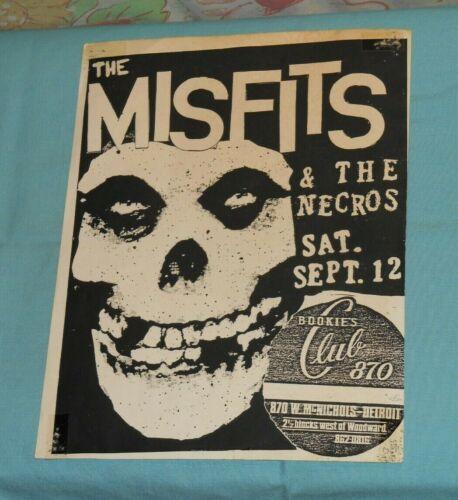 vintage original punk flyer MISFITS + THE NECROS Bookie
