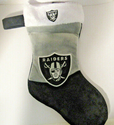 Oakland Raiders Football Holiday Christmas Stocking Big Logo NWT Forever (Football Christmas Stocking)
