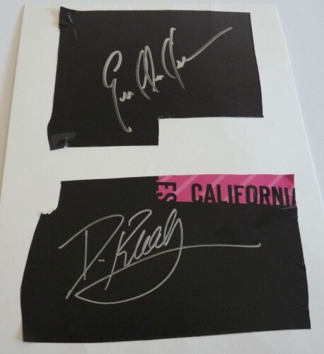 Daniela Ruah & Eric Christian Olsen NCIS Autograph Signed Cut PSA BAS Guaranteed
