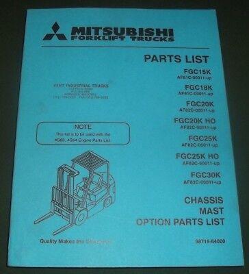 Mitsubishi Fgc15k Fgc18k Fgc20k Fgc25k Fgc25k Fgc30k Forklift Parts Manual Book