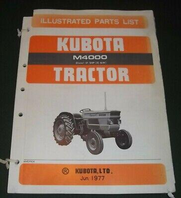 Kubota M4000 47.5hp Diesel Tractor Parts Manual Book Catalog