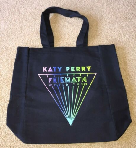 KATY PERRY BLACK TOTE BAG PRISMATIC LOGO 2014 PRISMATIC TOUR VIP