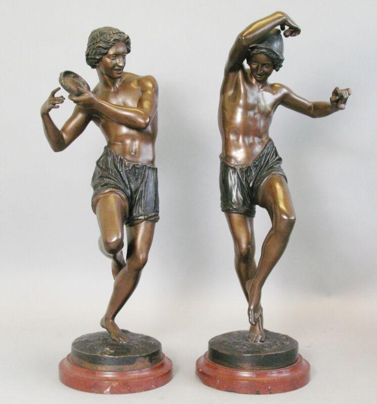 Antique French Bronze Orientalist Sculpures  Francisque-Joseph Duret c. 1870