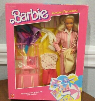 "NEW BARBIE 1988 ""VACATION SENSATION"" TOYS R US EXCLUSIVE GIFT SET - NRFB SEALED"