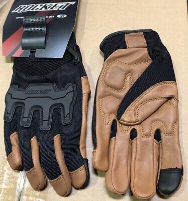 JOE ROCKET MENS ECLIPSE MESH TAN/BROWN MOTORCYCLE GLOVES X-LARGE Touch Finger Tan Motorcycle Gloves