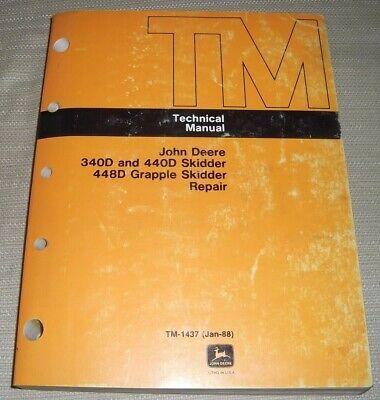 John Deere 340d 440d 448d Skidder Technical Service Shop Repair Manual Tm-1437
