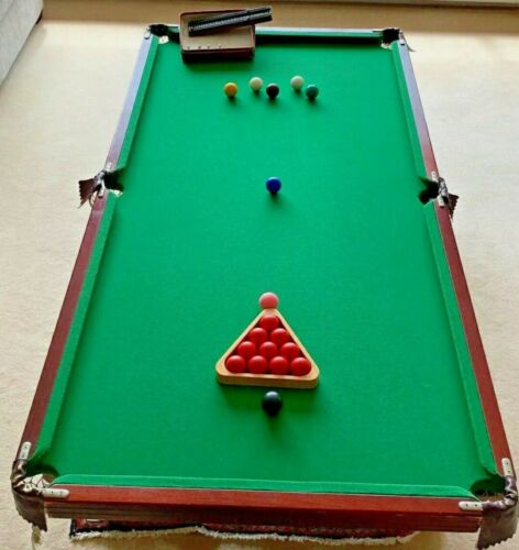 Table Top Snooker/Pool Table 6ft x 3ft Slate Bed Preowned