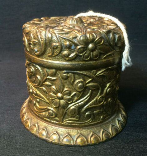 ANTIQUE NOUVEAU BRASS Rope Twine String Holder COUNTRY GENERAL STORE DISPLAY