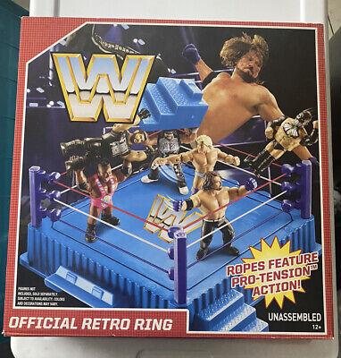 WWE Retro Wrestling Figure Ring by MATTEL WWF New Sealed Hasbro Replica