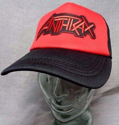 anthrax trucker hat mesh cap snapback scott ian metallica slayer megadeth s.o.d. Scott Mesh Cap