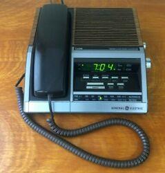 Vintage General Electric Phone Alarm Clock AM FM Radio Model 7-4700 7 - 4700