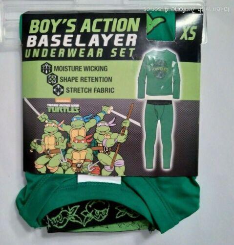Base Layer Long Underwear 2 Pc  XS  S Teenage  Mutant Ninja Turtles Spider Man