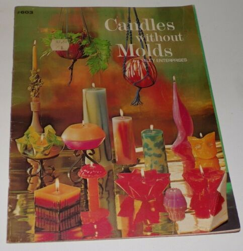 Vintage 1973 Yaley Enterprises #603 Candles without Molds Book