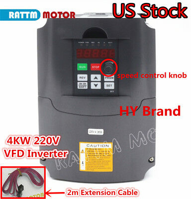 Usa Hy 4000w 5hp 4kw 220v Vfd Variable Frequency Drive Inverter Single3 Phase