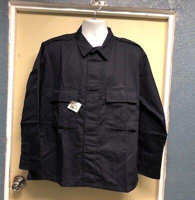Elbeco Tactical Twill BDU Long Sleeve Uniform Navy Blue Shirt (Navy Blue Long Sleeve Uniform)