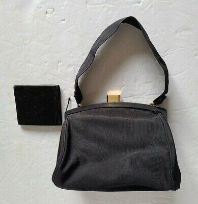 1950s Handbags, Purses, and Evening Bag Styles 1950s Bienen-Davis Black Framed Women Purse Handbag $47.00 AT vintagedancer.com