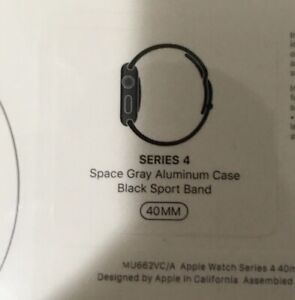 Apple Watch Series 4 brand new sealed 40mm Space Gray