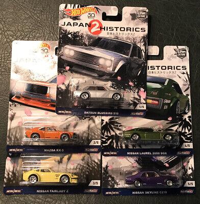 Hot Wheels Car Culture Japan Historics 2 Complete Set Of 5 NEW MOC