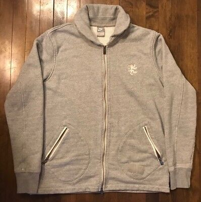 Nike Lebron LBJ Virtus Thick Gray Full Zip Cardigan Sweatshirt Men's XLT XL Tall