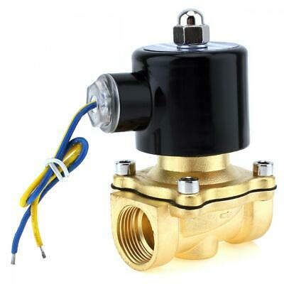 34 Brass Electric Solenoid Valve Dc 12v Nc Normally Closed For Water Oil Air