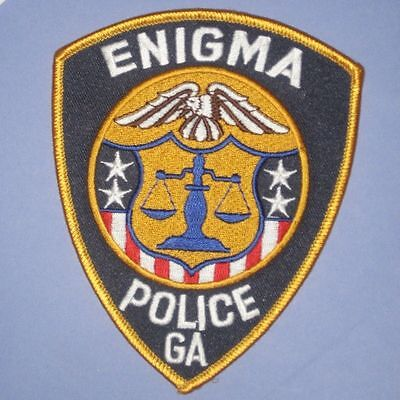 """Enigma Police Patch - Georgia - 4"""" x 5"""""""