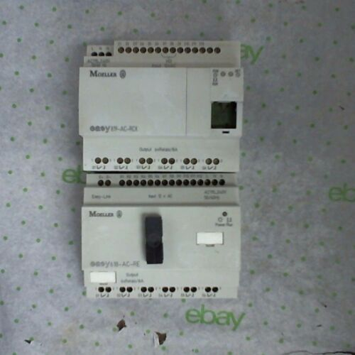 Moeller easy819-AC-RCX and easy618-AC-RE Control Relay 12 Input 6 Output Each