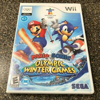 Mario and Sonic at the Olympic Winter Games - Nintendo Wii - Complete Free Ship