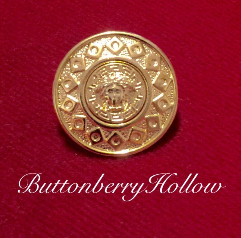One (1) Uncirculated Versace Medusa Head Gold Tone Metal Button
