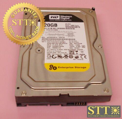 "Wd3202abys-02b7a0 Western Digital Re3 320gb 16mb Cache Sata 3gb/s 3.5"" Hd"