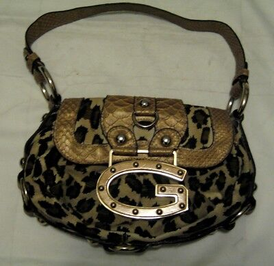 Guess Animal Print Shoulder Bag