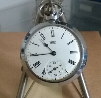 Vintage Smiths Empire Pocket Watch Working For Spares Or Repair.