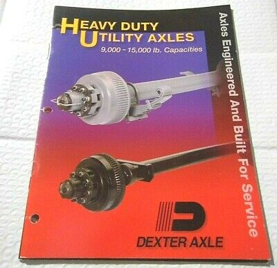 2000 Dexter Heavy Duty Utility Axles 9000-15000lbs Catalog 24 Pages