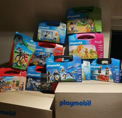 Playmobil Carry Cases And Handy pack X 10 New Clearance Bargain SRP £120ish
